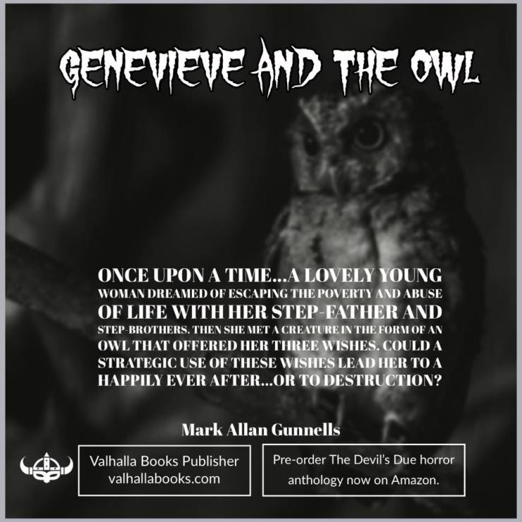 Genevieve and the owl by Mark Allan Gunnells
